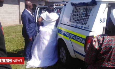 Coronavirus: South African bride and groom arrested over lockdown wedding