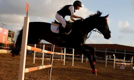 Gaza horse riders compete again as coronavirus curbs eased