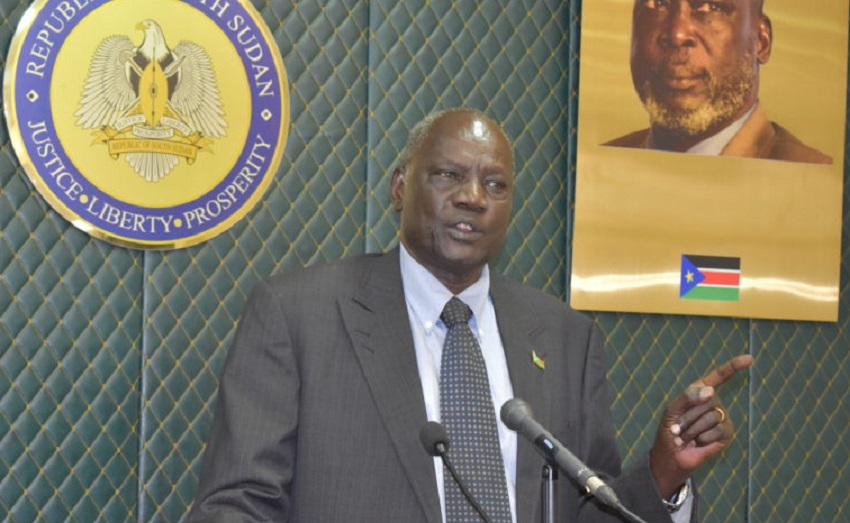 Makuei insists gov't agreed to change currency last week, says closure of shops contributing to depreciation