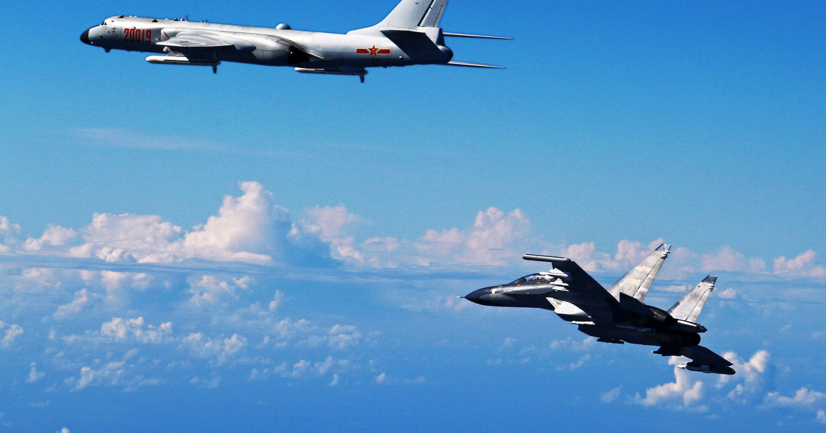 Taiwan reports large incursion by China's air force